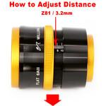 Adjust the distance.