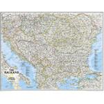 National Geographic Mapa regional dos Balcãs