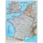 National Geographic Landkarte Frankreich