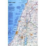 National Geographic Mapa regional Terra Santa