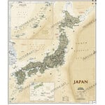 Carte géographique National Geographic Japon