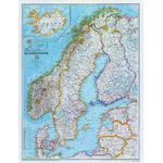 National Geographic Mapa regional Escandinávia