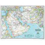 National Geographic Mapa regional Afghanistan, Pakistán y Oriente Medio