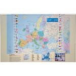 Idena Schreibunterlage Schreibtischunterlage Europa mit Einstecktaschen