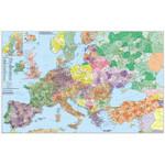Stiefel Europa mit Türkei Straßen- und Postleitzahlenkarte (mehrsprachig)