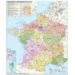 Stiefel Frankreich Postleitzahlenkarte (Französisch)