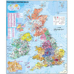 Stiefel Großbritannien Postleitzahlenkarte (englisch)