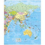 Carte des continents Stiefel Asia political (english)