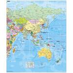 Stiefel Mapa de continente Asia political (english)