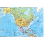 Stiefel Kontinent-Karte Nord- und Mittelamerika politisch