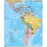 Stiefel Kontinent-Karte Mittel- und Südamerika politisch