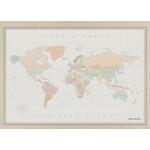 Miss Wood Mapamundi Woody Map Watercolor Colonial XL