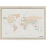 Miss Wood Wereldkaart Woody Map Watercolor Colonial XL