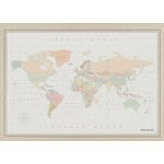 Miss Wood Woody Map Watercolor Colonial XL