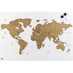 Idena Magnetic World Map for Scratching off and Pinning