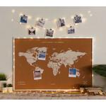 LED Lichter verwandeln jede Weltkarte in ein außergewöhnliches Dekorationsobjekt