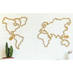 Miss Wood Mappa del Mondo Woody Map LED