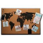 Idena Wereldkaart World map on cork