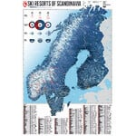 Carte régionale Marmota Maps Ski Resorts of Scandinavia
