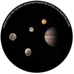 Omegon Dia für das Star Theater Pro mit Motiv Jupiter-System
