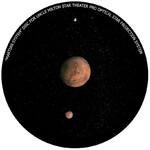 Omegon Wkładka do planetarium domowego Star Theater Pro z obrazem Marsa z księżycami