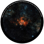 Omegon Disc for the Star Theatre Pro with NGC 6357 motif