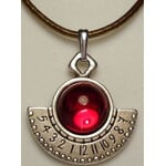 Ragalaxys Necklace Hypatia Sundial Red