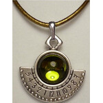 Ragalaxys Necklace Hypatia Sundial Apple Green