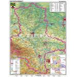 Stiefel Regional-Karte Sachsen-Anhalt physisch