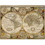 freytag & berndt Weltkarte Antik mit Metallleisten