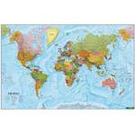 freytag & berndt Weltkarte politisch mit Metallleisten