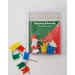freytag & berndt 30 flags for pinning, mixed colours