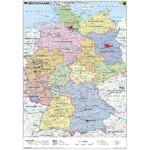 Stiefel Landkarte Schreibunterlage Deutschland politisch/physisch