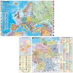 Stiefel Landkarte Schreibunterlage Deutschland und Europa fürs Büro