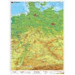 Stiefel Landkarte Deutschland physisch mit Metallleisten