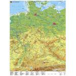 Stiefel Landkarte Deutschland mit UNESCO Welterbestätten mit Metallleisten