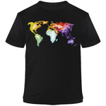 Stiefel T-Shirt The World is Colorful Aquarell M