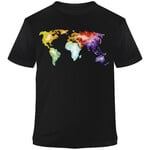 Stiefel T-Shirt The World is Colorful Aquarell S