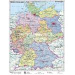 Stiefel Landkarte Deutschland politisch mit Metallleisten