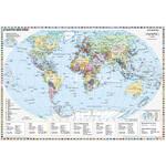 Stiefel Weltkarte Staaten der Erde mit Metallleisten