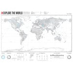 Marmota Maps Harta lumii Explore the World 140x100cm