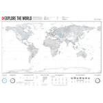 Marmota Maps Mappa del Mondo Explore the World 140x100cm