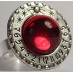 Ragalaxys Sundial Ring Saturn Red