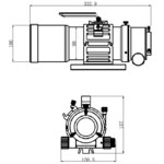 Omegon Apochromatische refractor Pro APO AP 76/418 Triplet ED OTA