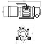 Omegon Refractor apocromático Pro APO AP 76/418 Triplet ED OTA