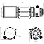 Omegon Refractor apocromático Pro APO AP 121/678 Quintuplet OTA