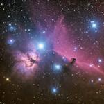 Kundenaufnahme: Flammennebel NGC2024 und Pferdekopfnebel IC434 aufgenommen von Jörg Ortmann am 10.10.2021 mit der Omegon veTEC 553 (Artikel 67319) aus 30x180 Sekunden