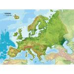 MBM Systems Kontinent-Karte Echt 3D Karte Europa