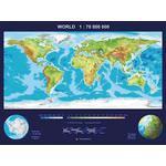 MBM Systems Mapamundi Mapa del mundo, tridimensional real