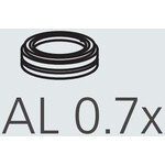 Nikon AL-307 Auxillary Objective 0,7x A.A. 127,5 mm